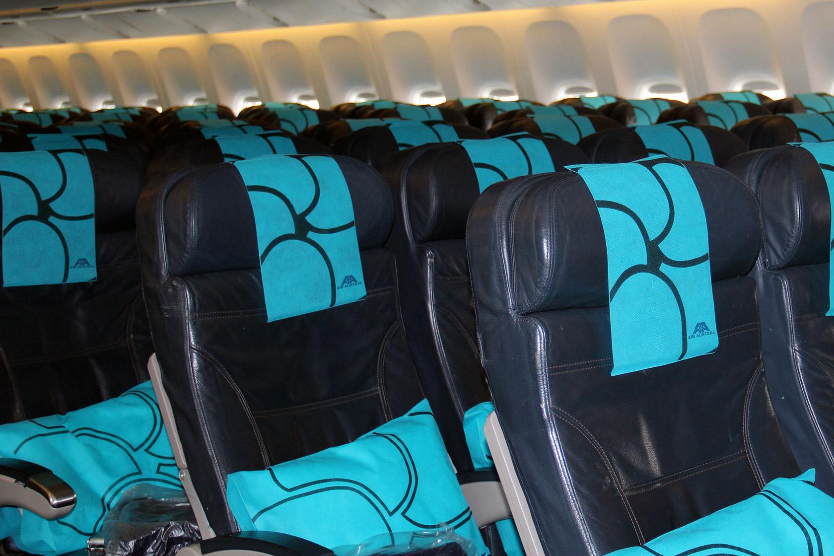 Réalisation de siège avion cabine cuir -  Air Austral (B777)