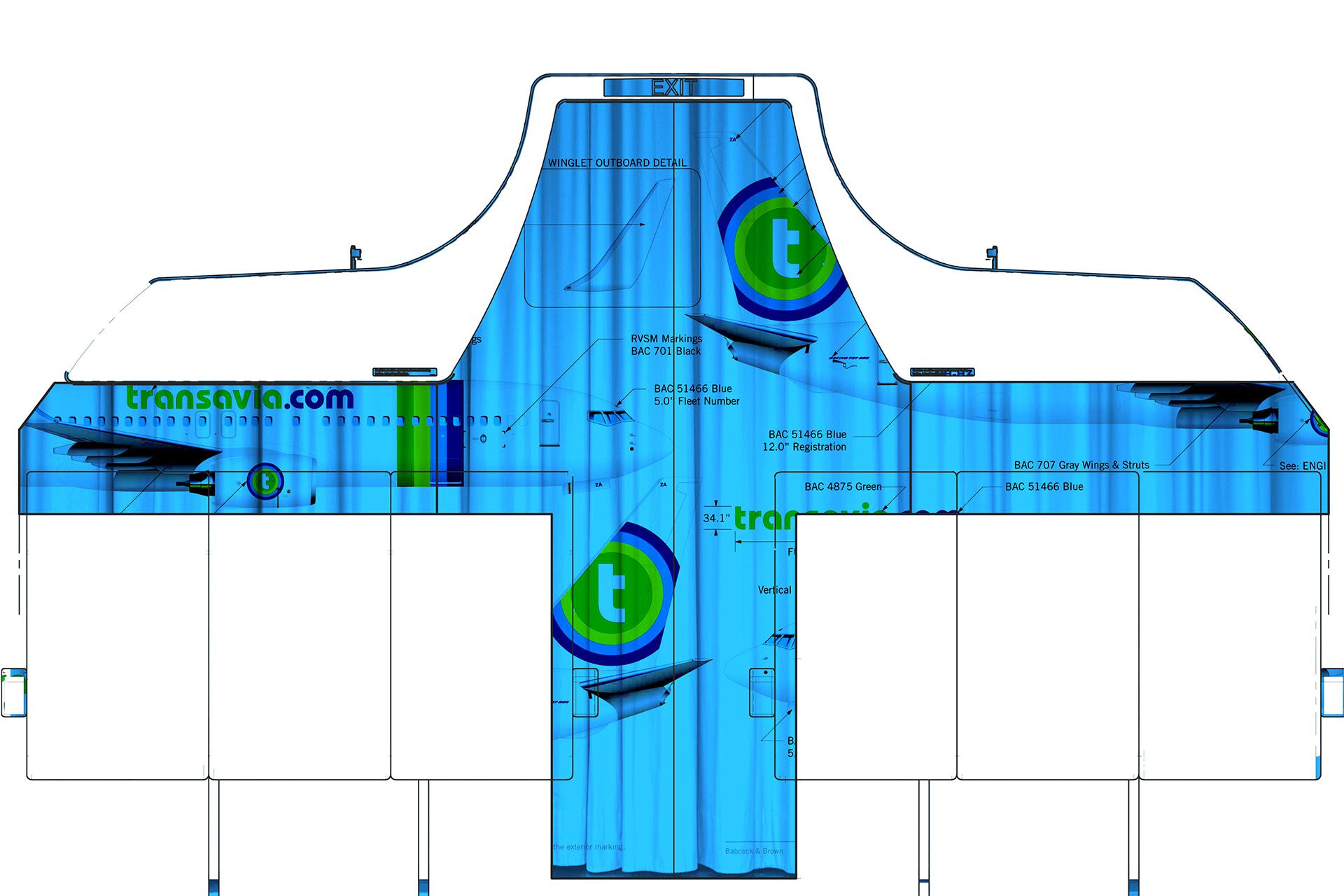 Projet Transavia rideaux séparation de classe