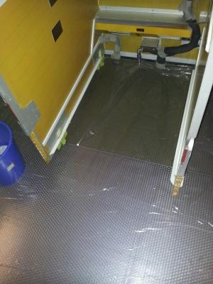 Pose tapis plastique A380