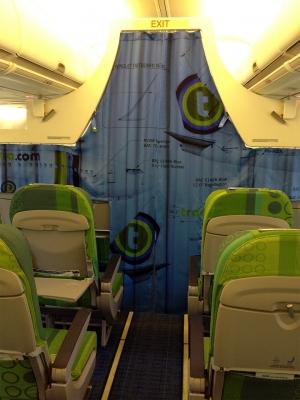 Transavia rideaux séparation de classe dos + 1 de face